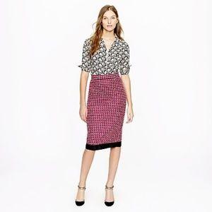 J.Crew Collection Pencil Skirt Pink Tweed Sz.8